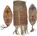 American Indian Art:Beadwork and Quillwork, Three Beaded Hide Pouches. ... (Total: 3 Items)