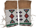 American Indian Art:Beadwork and Quillwork, Pair Beaded Women's Leggings.... (Total: 2 Items)