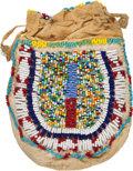 American Indian Art:Beadwork and Quillwork, Sioux Beaded Drawstring Pouch....
