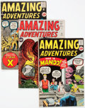 Silver Age (1956-1969):Science Fiction, Amazing Adventures #2-5 Group (Marvel, 1961) Condition: AverageVG.... (Total: 4 Comic Books)