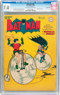 Golden Age (1938-1955):Superhero, Batman #29 Double Cover (DC, 1945) CGC FN/VF 7.0 Off-white to white pages....