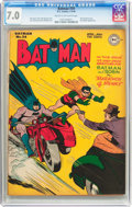 Golden Age (1938-1955):Superhero, Batman #34 (DC, 1946) CGC FN/VF 7.0 Cream to off-white pages....
