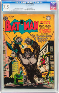 Batman #75 (DC, 1953) CGC VF- 7.5 Off-white pages