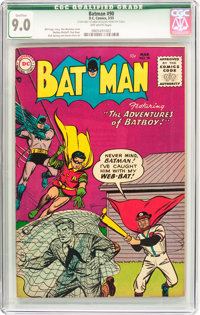 Batman #90 (DC, 1955) CGC Qualified VF/NM 9.0 Off-white pages
