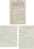Miscellaneous:Ephemera, Tombstone, Arizona: Three Documents Relating to Commerce andBusiness in Tombstone.... (Total: 3 Items)