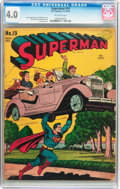 Golden Age (1938-1955):Superhero, Superman #19 (DC, 1942) CGC VG 4.0 Off-white pages....