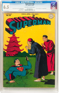 Superman #45 (DC, 1947) CGC FN+ 6.5 Off-white to white pages