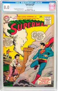 Superman #99 (DC, 1955) CGC VF 8.0 Off-white pages