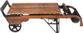 Furniture : American, A Porter's Grain Scale Converted to a Wooden Coffee Table, 20th century. 14 h x 51 w x 24 d inches (35.6 x 129.5 x 61.0 cm)...