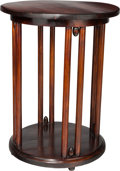 Furniture : Continental, A Josef Hoffmann Stained Beechwood Fledermaus Side Table forJ & J Kohn, Vienna, Austria, circa 1906. 31 h x 24 ...