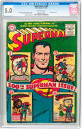 Golden Age (1938-1955):Superhero, Superman #100 (DC, 1955) CGC VG/FN 5.0 Off-white pages....