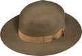 Western Expansion:Cowboy, Stetson Hat: A Very Fine Early Wide-brimmed Hat....