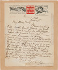 "Autographs:Celebrities, William F. ""Buffalo Bill"" Cody: A Fine Handwritten Letter onColorful Letterhead...."