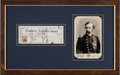 Autographs:Military Figures, George Armstrong Custer: A Framed Personal Check with his BoldSignature....
