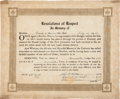 Miscellaneous, Masonic Certificate Issued in Memory of Captain Frank A. Hamer....(Total: 2 Items)