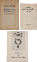 Miscellaneous:Ephemera, Native American Ephemera: Three Publications.... (Total: 3 Items)