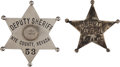 Western Expansion:Cowboy, Western Sheriff Badges.... (Total: 2 Items)