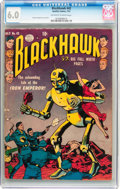 Golden Age (1938-1955):War, Blackhawk #42 (Quality, 1951) CGC FN 6.0 Off-white to whitepages....