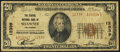 National Bank Notes:Oklahoma, Shawnee, OK - $20 1929 Ty. 2 The Federal NB Ch. # 12339. ...