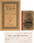 Miscellaneous:Ephemera, Lincoln County War: John W. Poe & Billy the Kid Ballad....