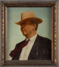 Art, Texas Ranger Captain Frank Hamer Portrait in Oil, ... (Total: 2Items)