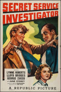 "Movie Posters:Crime, Secret Service Investigator (Republic, 1948). One Sheet (27"" X 41""). Crime.. ..."