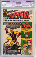 Silver Age (1956-1969):Superhero, Daredevil #1 (Marvel, 1964) CGC Apparent VF 8.0 Off-white pages....