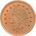 Civil War Merchants, 1863 Chas. Flach Provisions, Cincinnati, OH, Fuld-165AW-6a, R.7,MS65 Red and Brown NGC....