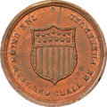 Civil War Patriotics, Undated Union Must Be Preserved Civil War Token, Fuld 512/519a,R.8, MS64 Red and Brown NGC. ...