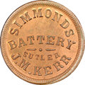 Civil War Tokens, (1861-65) J.M. Kerr Sutler Token, Simmonds Battery, KY S-1-10C,R.8, MS65 Red and Brown NGC....