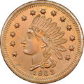 Civil War Merchants, 1863 Connely's New York Store, Brazil, IN, Fuld-130A-5a, R.5, MS66Red and Brown NGC....
