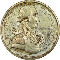 1789-Dated George Washington Twigg Medal, Baker-65F Cast Copy, MS62 NGC
