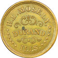 Civil War Merchants, (1861-1865) H.L. Mosely, Grocer, Durand, IL, Fuld-225A-1a, R.3,MS63 Brown NGC....