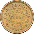 Civil War Merchants, (1861-1865) Carl Paeschke, Dry Goods, Milwaukee, WI,Fuld-510AE-1a1, R.5, MS62 Brown NGC....