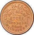 Civil War Merchants, (1861-1865) Carl Paeschke, Dry Goods, Milwaukee, WI, Fuld-510AE-2a,R.4, MS63 Brown NGC....