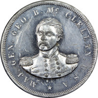 (1864) G.B. McClellan Campaign Medal, DeWitt-GMcC-1864-9 -- Obverse Scratched -- NGC Details. Unc
