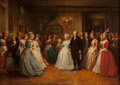 Paintings, Dennis Malone Carter (American, 1827-1881). Washington's Inaugural Ball, 1863. Oil on canvas. 34 x 47 inches (86.4 x 119...