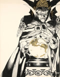 Original Comic Art:Covers, Michael Golden Doctor Strange Portfolio Envelope CoverOriginal Art (SQ Publications/Marvel, 1983)....