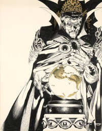Michael Golden Doctor Strange Portfolio Envelope Cover Original Art (SQ Publications/Marvel, 1983)