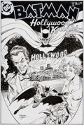 Original Comic Art:Covers, Dick Giordano and Bob Layton Batman: Hollywood Knights #1Unused Cover Original Art (DC, 2001)....