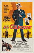 "Movie Posters:Crime, Al Capone (Allied Artists, 1959). One Sheet (27"" X 41""). Crime.. ..."