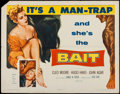 "Movie Posters:Bad Girl, Bait (Columbia, 1954). Half Sheet (22"" X 28""). Bad Girl.. ..."