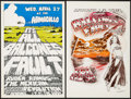 "Movie Posters:Rock and Roll, Armadillo WHQ. Presents Balcones Fault with Chastity Fox &Other Lot (AWH, 1976). Concert Posters (2) (11.5"" X 17.5""). Rock... (Total: 2 Items)"