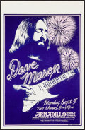"Movie Posters:Rock and Roll, Dave Mason at the Armadillo World Headquarters (AWH, 1977). ConcertPoster (11"" X 17""). Rock and Roll.. ..."