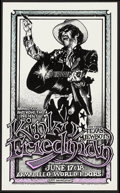 "Movie Posters:Rock and Roll, Kinky Friedman and the Texas Jewboys at The Armadillo WorldHeadquarters (AWH, 1975). Concert Poster (10.5"" X 11.5""). Rock a..."