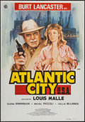 "Movie Posters:Crime, Atlantic City (Diasa, 1981). Spanish Language One Sheets (2) Identical (27.5"" X 39.5""). Crime.. ... (Total: 2 Items)"