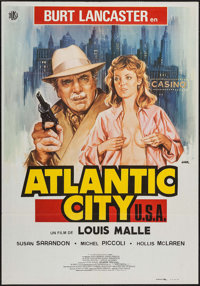 "Atlantic City (Diasa, 1981). Spanish Language One Sheets (2) Identical (27.5"" X 39.5""). Crime. ... (Total: 2 I..."