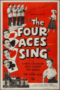 "Movie Posters:Musical, The Four Aces Sing (Universal International, 1954). One Sheet (27"" X 41""). Musical.. ..."