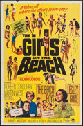 "Movie Posters:Rock and Roll, The Girls on the Beach (Paramount, 1965). One Sheet (27"" X 41"").Rock and Roll.. ..."
