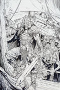 Original Comic Art:Splash Pages, Glenn Fabry Thor: Vikings #1 Splash Page 1 Original Art(Marvel, 2003)....